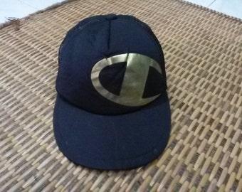 Vintage Champion Cap Hat 90s 80s