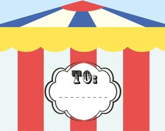A5 Customisable circus invite