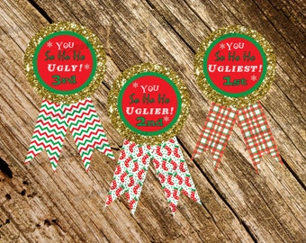 Bright Ugly Sweater Christmas Awards Instant Download