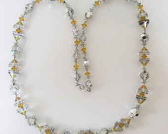 Vintage - Collectible - Crystal Bead Necklace - Jewelry - Crystals - Beads - Necklace - Sparkling - Elegant - Women's - Gift - Birthday