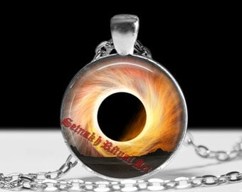 The black hole pendant Black hole jewelry Astrology necklace Planet pendant Cosmos jewellery #434.2