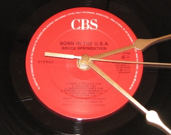 "Bruce Springsteen born in the u.s.a.  12"" vinyl Lp / album  record clock"