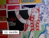 Dee indù e carte Divinità, insieme di varietà