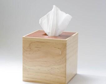 Wooden Tissue Box Cover Square