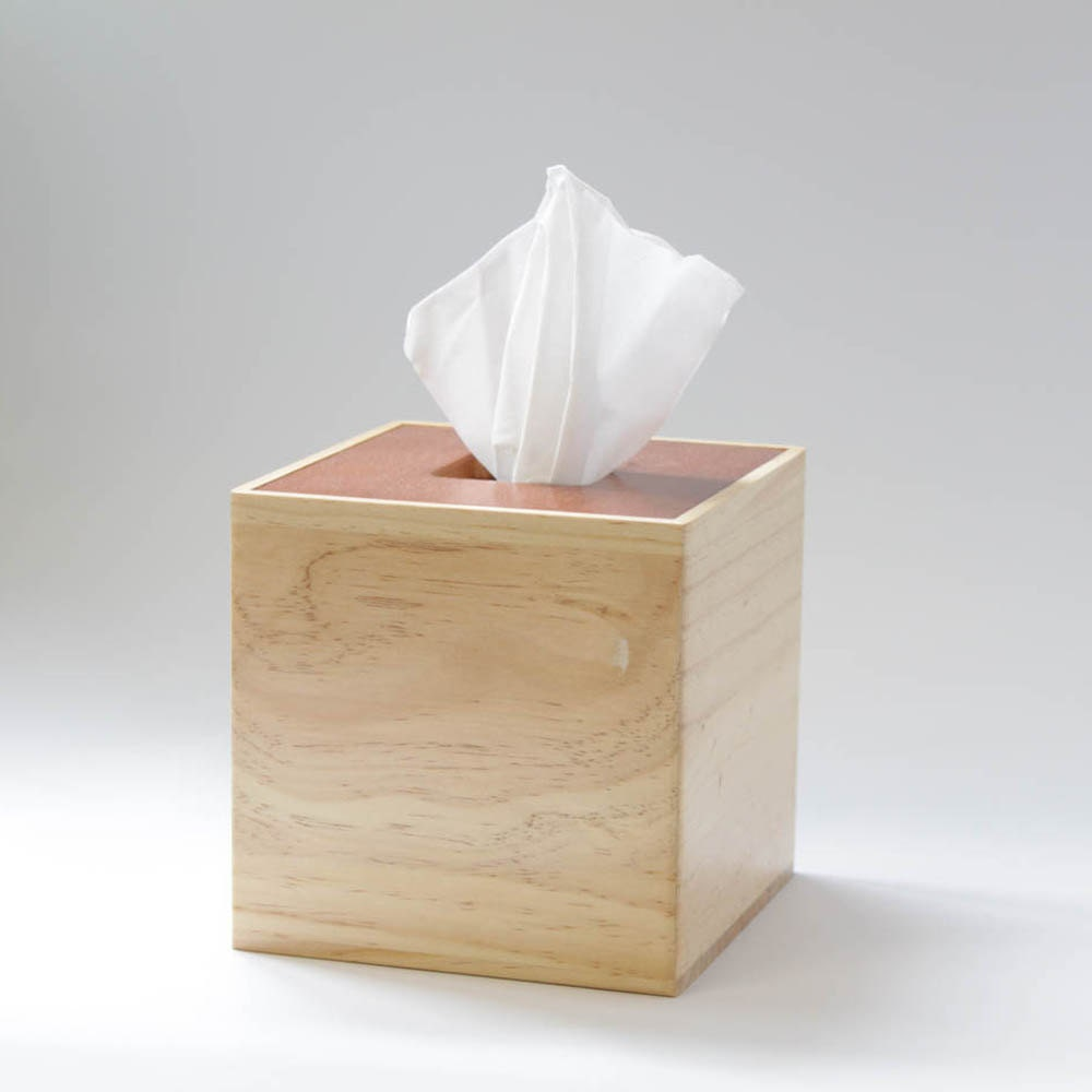 Wooden Tissue Box Cover Square