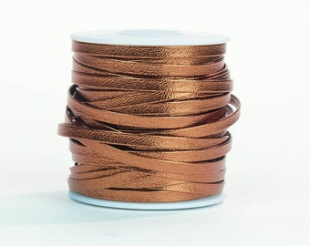 "Bronze Metallic Lace 5/32""x75 feet"