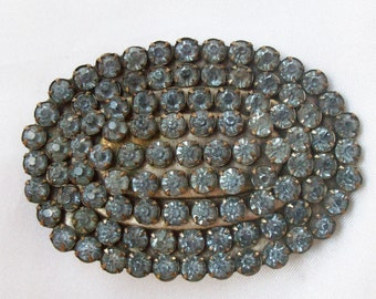 Large Beautiful Vintage  Colored Rhinestone Costume Jewelry Pin or Brooch - Free Shipping USA