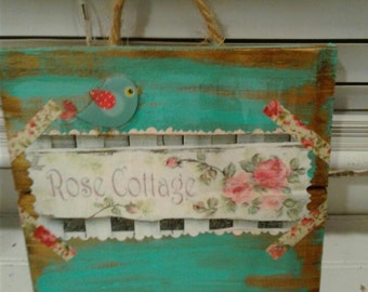 Distressed Wood Plaques