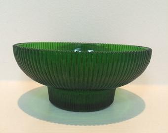Vintage Hoosier Green Glass Bowl