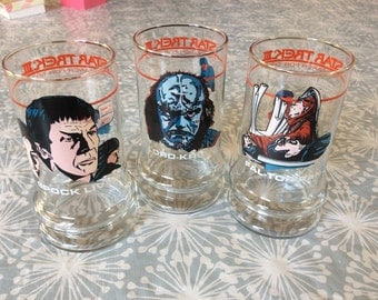 Star Trek III Drinking Glasses - The Search for Spock