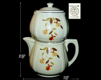 Hall China Autumn Leaf All China Coffee Server Pot Hard to Find