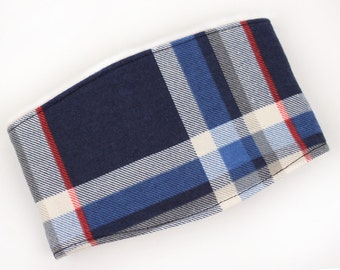 Leak Proof Belly Band for Male dogs Navy Blue Plaid Dog Wraps, Diaper for Male Dogs
