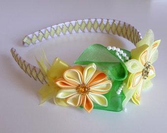 Gorgeous hard headband, Yellow headband