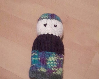 Carefree knitted doll