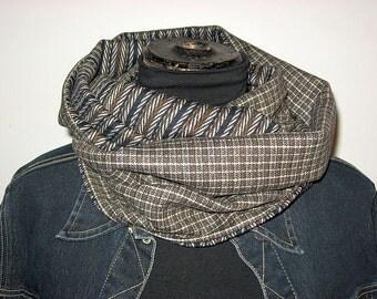 infinity scarf loop scarf, man man, Brown, men casual infinity