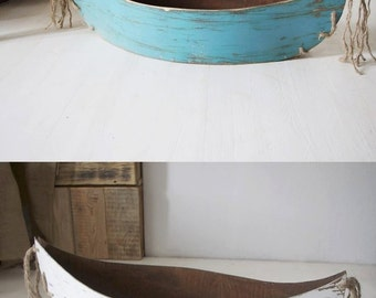 Wooden canoe photo prop