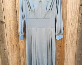 Vintage 70's light blue dress