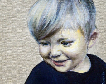 Custom portrait painting - Baby & Child