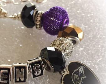 BALTIMORE RAVENS Inspired Jewelry Bracelets