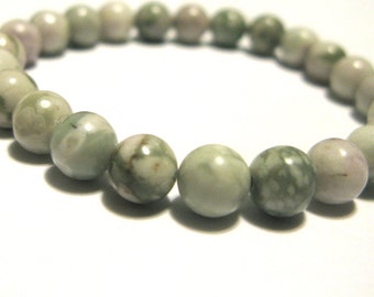 Beaded bracelet 8mm peace jade stretch