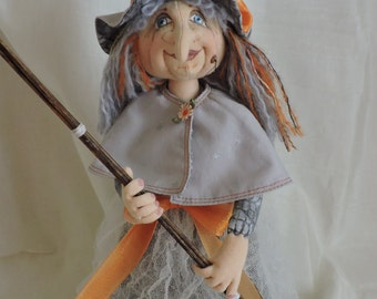 Cloth Art Doll, 16 inch Witch