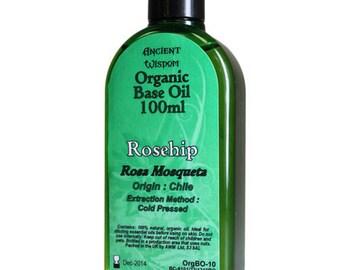 100ml Organic Base Oil - 100% Pure - ROSEHIP Base Oil