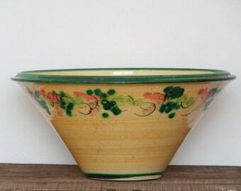 Big ceramic bowl - Vallauris ceramic - French ceramic - South of France dish - Provence decor - Salad bowl - Serving bowl - 80