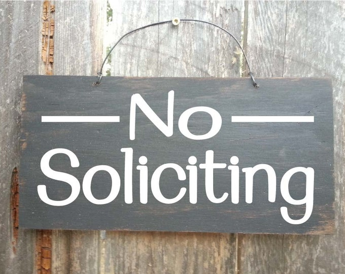 no solicitation sign, No Soliciting, no soliciting door sign, no solicitors sign, no solicitors, no soliciting wood sign, 39/206