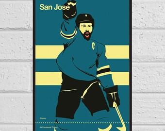 San Jose Sharks A3 print