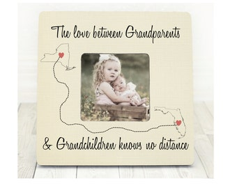 Long Distance Grandparents and Grandchildren States Personalized Frame Grandparents frame Grandparents Gift Grandchildren Gift Distance