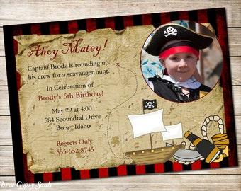 Pirate Invitation Pirate Birthday Invitation Pirate Party Invitations Pirate Invite Printable Invitation