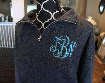 Monogrammed 1/4 Zip, Quarter Zip, Pull Over, Half Zip, Sweatshirt, Sweater