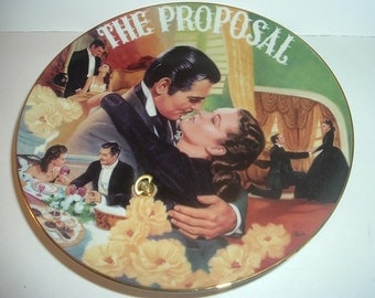 1995 GWTW Gone With The Wind Proposal Scarlett and Rhett Musical Plate
