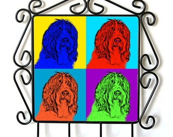 Schapendoes- clothes hanger with an image of a dog. Collection. Andy Warhol Style