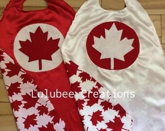 Canada Day Super Hero Cape, Canada Day Accessories, Canada Day kids clothes, Canada Day attire, Canada Day capes, Canada Day birthday party