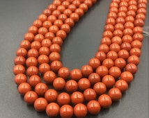 Round Red Jasper Beads,Loose Gemstone Beads,Smooth Round Red Jasper Stone Beads,Semiprecious Beads,Jewelry Making 4/6/8/10/12mm