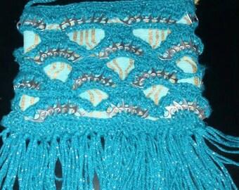Pop tab, cross body crochet  purse
