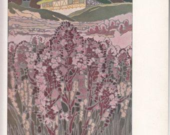 """Art Nouveau Paysage Decoratif 1911 Paris Print,10"""" X 14""""/ Le Journal de la Decoration"""