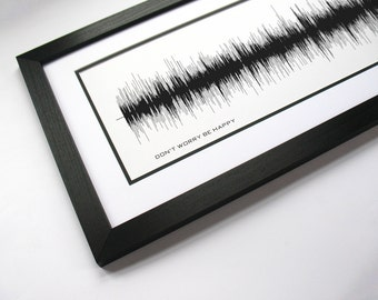 Don't Worry Be Happy - Music Art Sound wave Print - Song Lyric Art, Artist Poster