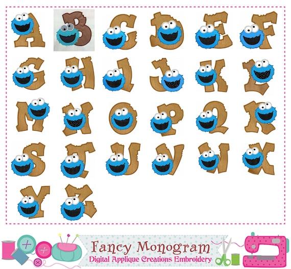 Cookie monster letters appliquecookie monster monograms cookie monster letters appliquecookie monster monograms appliquebirthday letters designalphabetletters designfonts design 1632 voltagebd Images