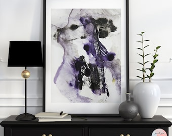 Abstract purple acrylic painting fine art print SP No. 9 / download file