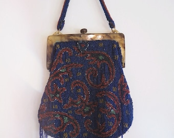 Beautiful condition 1920's Art Nouveau beaded/fringed purse