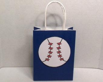 Baseball Gift Bag-Birthday Gift Bags, Gift Bags, Baby Shower Gift Bags, Paper Gift Bags,Paper Bags, Baseball Bags
