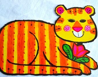Vintage Birthday Card - Mod Tiger - Ambassador Unused