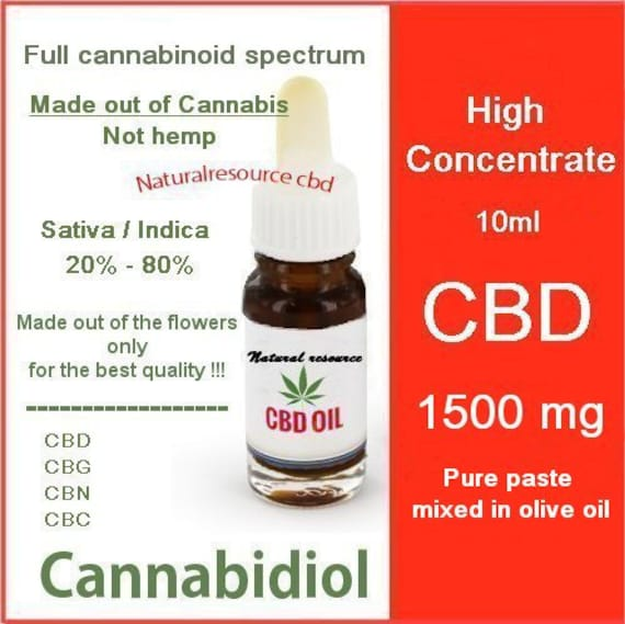 CBD oil 1500mg Full cannabinoid spectrum by ...