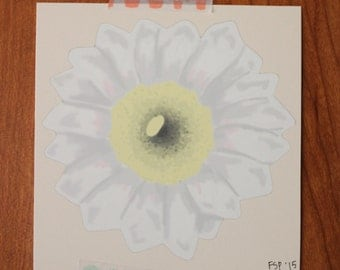 Saguaro Flower Print