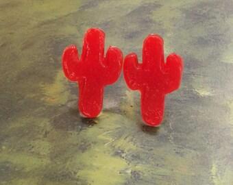 Cactus Earrings,Rockabilly Earrings,Fiesta Mexicana,Cacti Jewelry,Novelty Earrings,Kitsch Earrings,Rockabilly Jewelry,Pin Up Accessories.