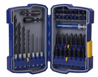 KOBALT 40-Piece DRILL-DRIVER Bit Set 0673027 Hard case keep bits organized easy access Compatible with impact driver moxt popular sezes 8B3E