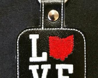 LOVE OHIO key fob - key chain