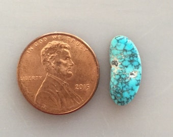 LM95 Rare Gem Grade Lone Mountain Natural Turquoise Cabochon  4 Carat Cab Stone Untreated Gemstone Gems Jewelry Findings